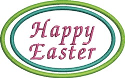 Easter Circle embroidery design
