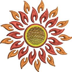 Fire Sun embroidery design