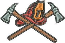 Fireman Gear embroidery design