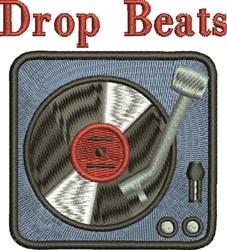 Drop Beats embroidery design