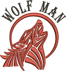 Wolf Man embroidery design