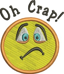 Oh Crap! embroidery design