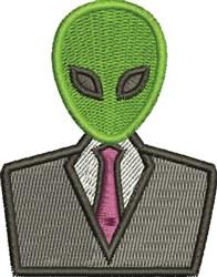 Alien In Suit embroidery design