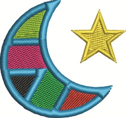 Crescent and Star embroidery design