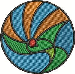 Circle Dove embroidery design