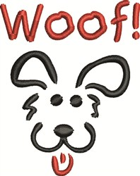 Woof Dog embroidery design