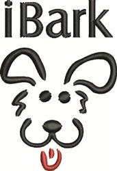 I Bark embroidery design