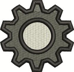Gear embroidery design