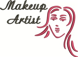 Makeup Artist embroidery design