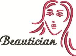 Beautician embroidery design