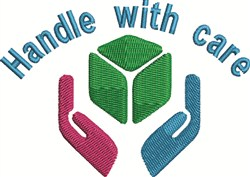 Handle With Care embroidery design