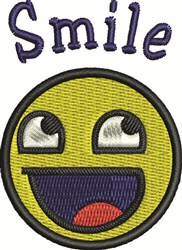 Smile Face embroidery design