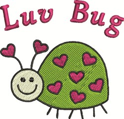 Luv Bug embroidery design