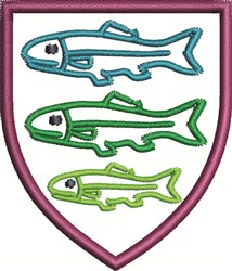 Mounted Fish embroidery design