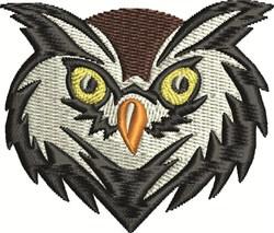 Owl Face embroidery design