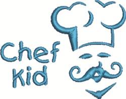 Chef Kid embroidery design