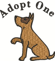 Adopt One embroidery design