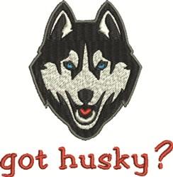 Got Husky? embroidery design