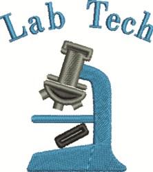 Lab Tech embroidery design