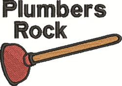 Plumbers Rock embroidery design