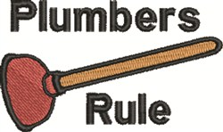 Plumbers Rule embroidery design