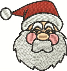 Santa Head embroidery design
