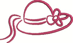 Womans Hat embroidery design