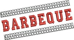 Barbeque Banner embroidery design