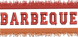 Barbeque embroidery design