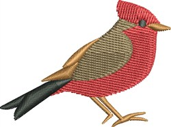 Red Robin embroidery design