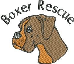 Boxer Rescue embroidery design