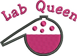 Lab Queen embroidery design