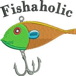 Fishaholic embroidery design