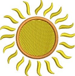 Golden Sun embroidery design