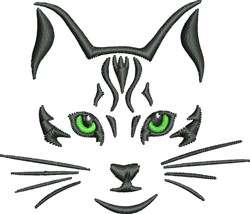 Green Eyed Cat embroidery design