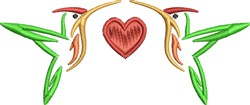 Humming Birds Heart embroidery design