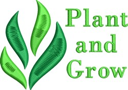 Plant And Grow embroidery design