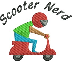 Scooter Nerd embroidery design