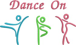 Dance On embroidery design
