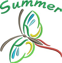 Summer Butterfly embroidery design