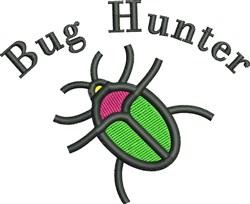 Bug Hunter embroidery design