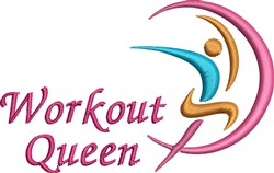 Workout Queen embroidery design