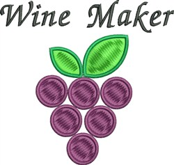 Wine Maker embroidery design