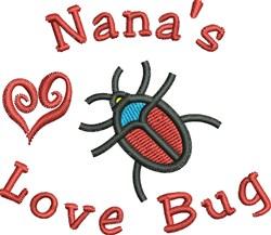 Nanas Love Bug embroidery design