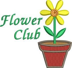 Flower Club embroidery design
