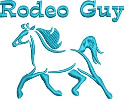 Rodeo Guy embroidery design