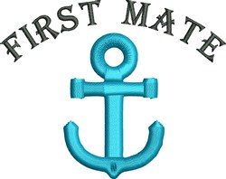 First Mate embroidery design