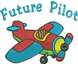 Future Pilot embroidery design
