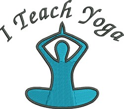 I Teach Yoga embroidery design