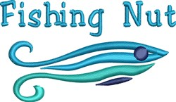 Fishing Nut embroidery design